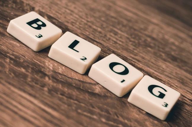 scritta blog